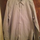VINCE Blue & Gray Pin Stripe Men's Button Down Shirt SZ XL