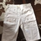 NWOT Michael by Michael Kors White Cotton Twill  Bermuda Shorts SZ 2 Golf