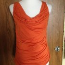 Elie Tahari Orange Tank 100% Lyocell SZ S/P Made in Vietnam Casual
