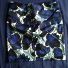 PATRIZIA LUCA Cotton Blend Multicolor Abstract Floral Print Mini Skirt SZ 2