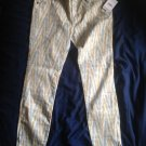 NWT FREE PEOPLE ivory ikat print pants SZ 29 $88 retail