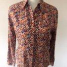 VTG MISSONI SPORT Multicolor Abstract 100% Cotton Button Down Shirt SZ IT 44