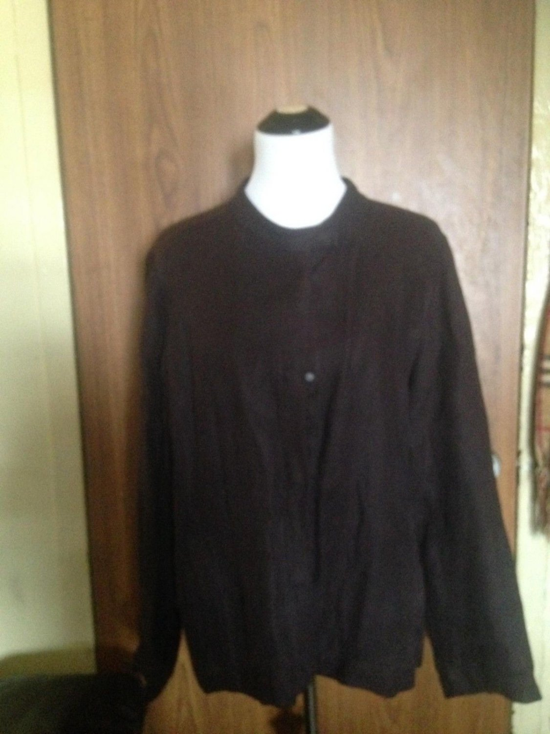 EILEEN FISHER 100% Linen Brown Snap Button Jacket SZ XL