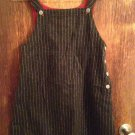 Vintage GAP kids Wool Blend Gray Pinstripe Overalls SZ XL