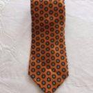 NWOT PACO RABANNE 100% Silk Orange Blue Geometric Print Necktie Made in Italy