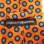 NWOT PACO RABANNE 100% Silk Orange Blue Geometric Print Necktie Made in Italy