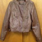 JOU JOU Faux Leather Brown Jacket Kids Girls SZ L