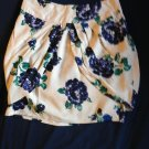 Kimchi Blue Urban Outfitters Cream Skirt Blue Floral Print SZ 2 Made in India