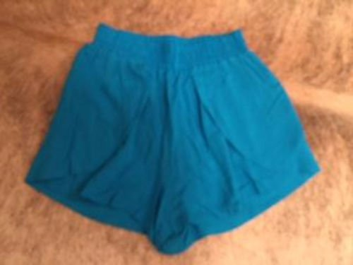 ELAN electric blue pull on high waisted elastic waist  shorts 100% rayon  SZ L