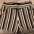 Zara Trafulic Black And White High Waisted Shorts SZ S