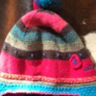 Pre-owned CATIMINI Angora Blend Toddler Multicolor Ski Hat Pom Pom Detail SZ T3