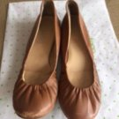Pre-owned JCREW Caramel Brown Ballet Flats SZ 6 Made in Italy