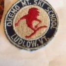 VTG OKEMO MT. Ski School Ludlow, Vermont Patch Circle Red, White, Blue