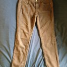 ROZ & ALI Brown Cotton Blend Denim Jeans Sequin Pocket Detail SZ 5