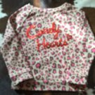 Pre-owned CANDY HEARTS by Heartstrings Animal Print Tan Sweatshirt Glitter SZ 3T