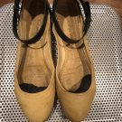 Pre-owned COSTUME NATIONAL Beige Black Ballet Flats SZ 38 Made in Italy