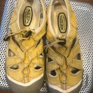 VGC KEEN Yellow  Drawstring Slingback Sandals Camp Shoes SZ 9.5