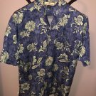 NWOT TOMMY BAHAMA Cerulean Blue Mint Green Floral Print Short Sleeve Shirt SZ S