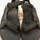Pre-owned TEVAS Mens Black Strap Shock Pad Hiking Sandals SZ 13