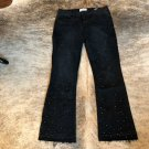 "NWOT FRAME ""Le Crop Mini Boot"" Black Distressed Jeans SZ 29"