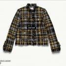 ERDEM x H&M Tweed Black & Yellow Wool Blend Jacket SZ 2 SOLD OUT