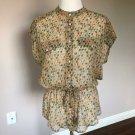 NWOT D&G by  Dolce & Gabbana Floral Safari Shirt SZ IT 44/US 8-10