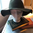 NWOT OTTE Moss Green Wide Brim 100% Wool Floppy Hat Fashion SZ M