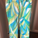 VTG VERSACE JEANS Couture Jeans Blue, Yellow, White Brushstroke Pattern SZ 10