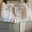 NWOT FREE PEOPLE White Denim Hi Rise Short Shorts SZ 29