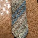 EUC MISSONI CRAVATTE Diagonal Stripe Shades of Pastel Green Blue Knit Necktie