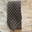 NWOT VTG VALENTINO 100% Silk Charcoal Beige Print Silk Tie