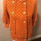Pre-owned Marc by Marc Jacobs Orange Quilted Hoodie SZ XS