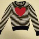 Pre-owned SWEATER PROJECT Juniors Black/White/Red Stripped Sweater Size L