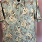 Pre-owned BOSS by Hugo Boss Short Sleeve Sea Foam Green Blue Stripe Shirt SZ XL