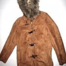 Pre-owned LANDS' END Women's Light Brown Jacket Size Small 6 to 8 Toggle Hood