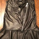 NWOT FLOWERS by ZOE Black Leather Looking Sleeveless Top SZ Girls' 6X