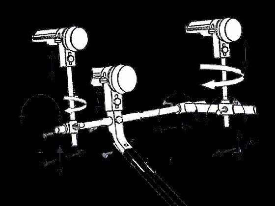 """Multi Satellite LNB Bracket 24"""" to 52"""" Dish"""