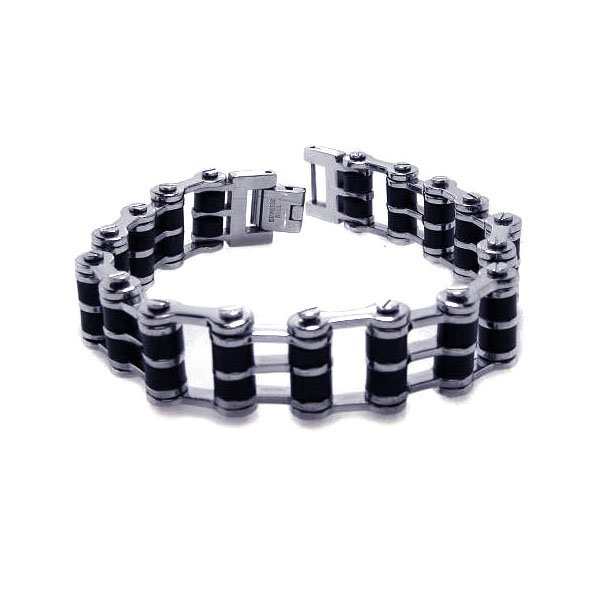 Stainless Steel Motorcycle Bike Chain Link Bracelet SOD 467ssb00014 on Sale