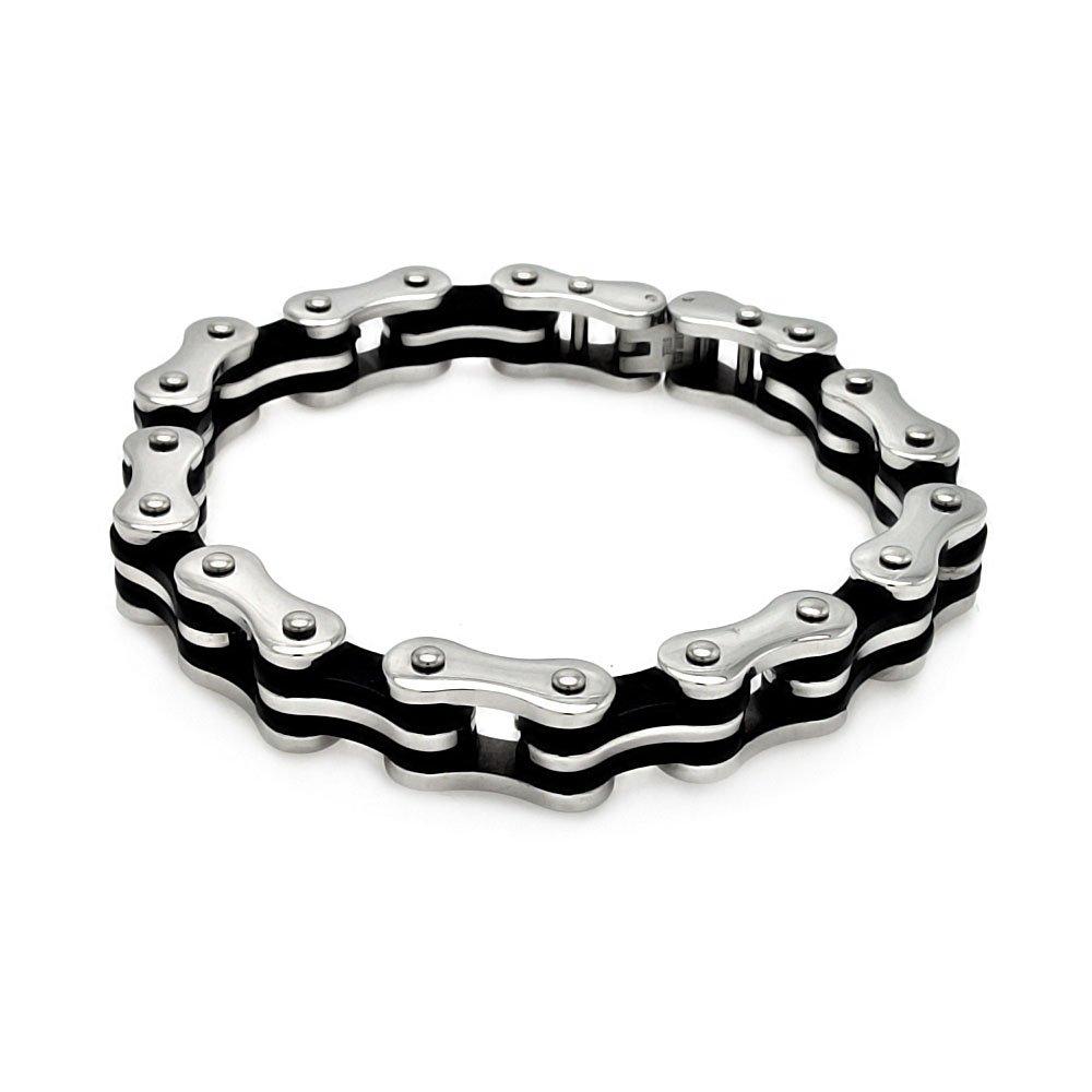 Men's Stainless Steel Bicycle Bike Link 316 Bracelet 567-ssb00181 on Sale