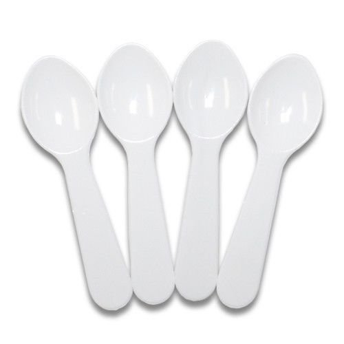 "1000 3"" Plastic Disposable Tasting Taster Sample Ice Cream Gelato Spoon Spoons"
