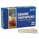 Royal Square Toothpicks 800 Count Box