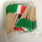 144 Italy Italian Flag Mini Picks Toothpicks