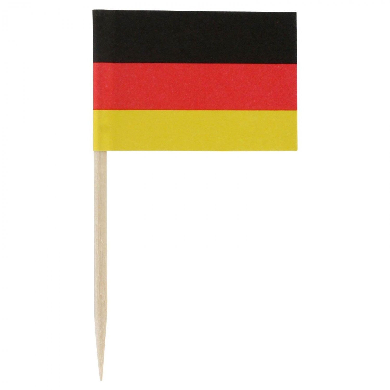 "100 Ct Box 2.5"" German Germany Flag Mini Toothpicks Picks"