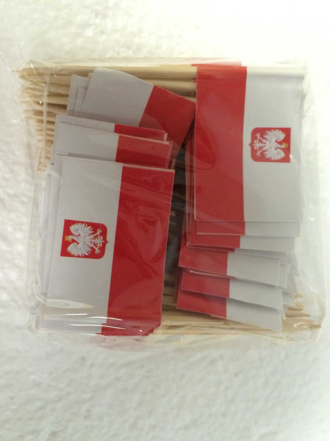 "100 Polish Poland Mini 2.5"" Flag Appetizer & Party Decoration Picks Toothpicks"