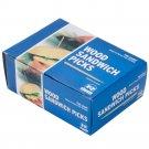 "Royal Paper R823 3 1/2"" Eco-Friendly Wood Flat Sandwich Food Picks - 750/Pack"