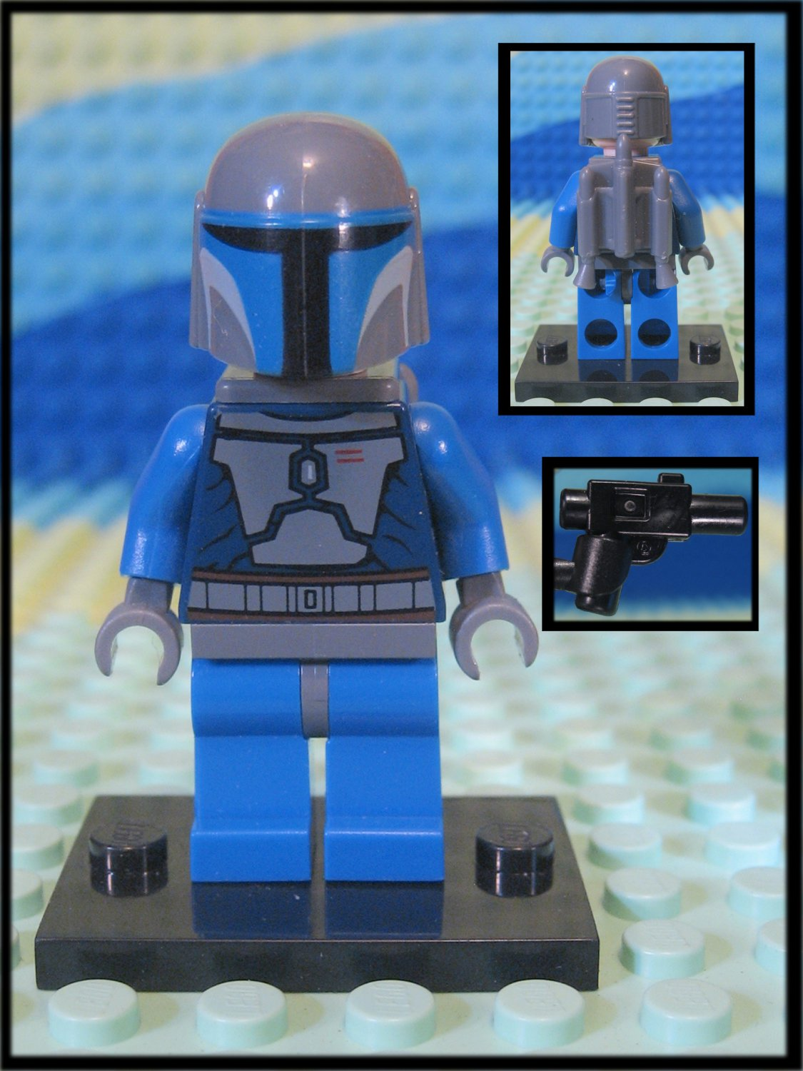 Genuine Authentic Star Wars Mandalorian Lego Minifigure + Blaster
