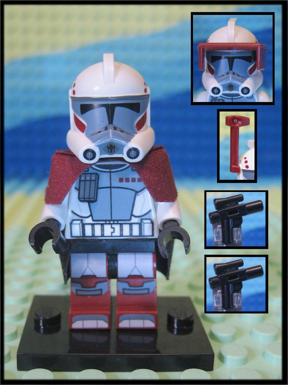 Genuine Authentic Star Wars Elite Clone Arc Trooper 9488 Lego Minifigure + 2 Blaster