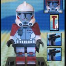 Genuine Authentic Star Wars Elite Clone Arc Trooper 9488 Lego Minifigure + 2 Blaster