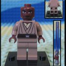 Genuine Authentic Star Wars Mace Windu 7868 Lego Minifigure + Lightsaber
