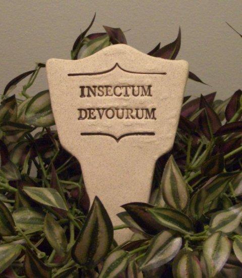 'INSECTUM DEVOURUM' Humor in the Garden MARKER Decor